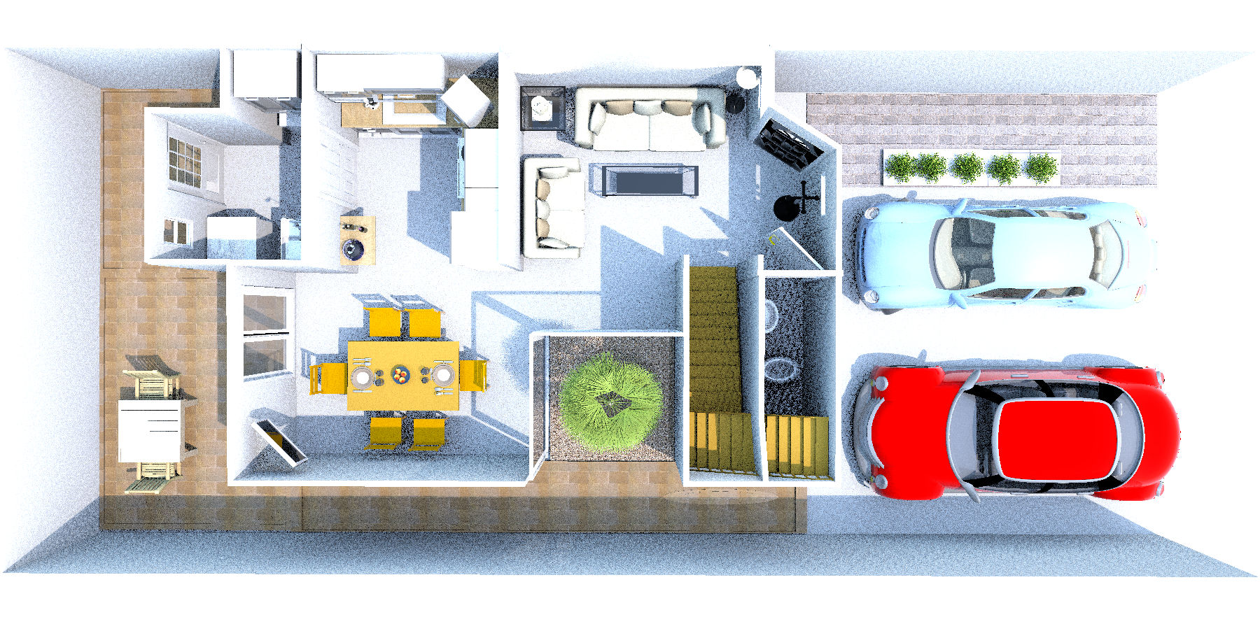 Maqueta 1 planta baja plano de casa de 90 m2 planos de - Fotos de planos de casas ...